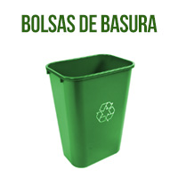 bolsa de basura biodegradable, imagen del cubo verde