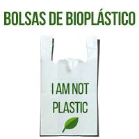 bolsa de plástico biodegradables con el mensaje i´m not plastic