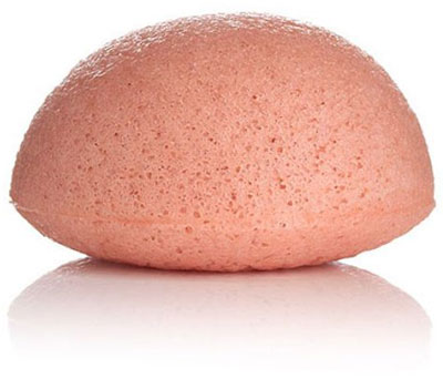 foto de una esponja konjac rosa exfoliante y biodegradable