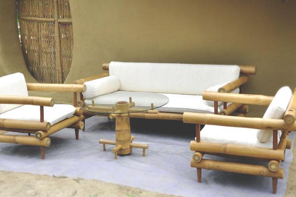 Silla de terraza en bambú