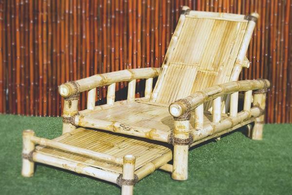 Muebles para el jardín de bambú